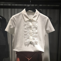 T-shirt White, black Summer 2021 Short sleeve Polo collar Straight cylinder Regular routine commute cotton 96% and above 25-29 years old Simplicity originality Solid color Pretend to be amashizheng