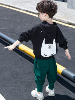suit Other / other Black (batman suit), off white (batman suit) male spring and autumn leisure time Long sleeve + pants 2 pieces routine There are models in the real shooting Socket No detachable cap cotton children Expression of love Class B Cotton 80% polyurethane elastic fiber (spandex) 20%