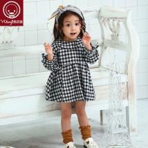 Dress 310131? Royal blue 310131? Red Yobeyi / youbeiyi female 80cm90cm100cm110cm120cm130cm140cm Cotton 100% spring and autumn Long sleeves lattice