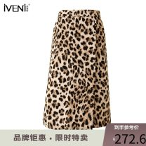 skirt Spring 2021 155/S 160/M 165/L 170/XL Leopard Print Middle-skirt commute High waist A-line skirt Leopard Print Type A 30-34 years old 95G739 More than 95% Iveni cotton Korean version Cotton 100% Same model in shopping mall (sold online and offline)