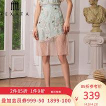 skirt Summer 2020 XS S M L Decor Middle-skirt commute Natural waist A-line skirt Decor 30-34 years old More than 95% FEXATA nylon Gauze Polyamide fiber (nylon) 100% Same model in shopping mall (sold online and offline)