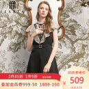 Dress Autumn 2020 black S M L Short skirt singleton  Short sleeve commute Crew neck High waist zipper A-line skirt Lotus leaf sleeve Others 25-29 years old Type X FEXATA Retro F203LQ01/7B More than 95% polyester fiber Polyester 100% Same model in shopping mall (sold online and offline)