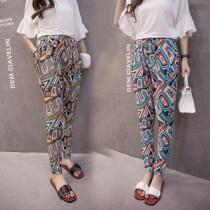 Casual pants S M L XL 2XL 3XL Summer of 2018 trousers Haren pants High waist commute Thin money 81% (inclusive) - 90% (inclusive) ethnic style pocket