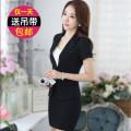 Professional dress suit S,M,L,XL,XXL,XXXL,4XL,5XL Gray, black Summer 2020 Short sleeve 2038 set loose coat Suit skirt 25-35 years old