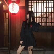 skirt Autumn of 2018 XS,S,M,L Black, gray High waist