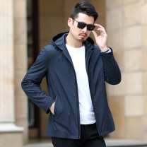 Jacket Other / other Business gentleman 170/M,175/L,180/XL,185/2XL,190/3XL,195/4XL routine standard Other leisure spring KUGST-JK2901 Polyester 100% Long sleeves Wear out Hood Business Casual middle age routine Zipper placket Cloth hem washing Loose cuff Side seam pocket