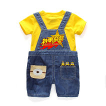 Children's performance clothes M018 yellow neutral 130cm,80cm,120cm,100cm,110cm,90cm,140cm Other / other Class B M018 other Cotton 95% polyester 5% Denim 2 years old, 3 years old, 4 years old, 5 years old, 6 years old, 7 years old Europe and America