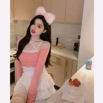Fashion suit Summer 2021 S. M, average size White skirt, black skirt, pink top, black top 18-25 years old 4.2C