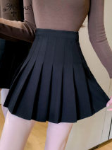 skirt Spring 2021 S M L XL 2XL Black grey Short skirt commute High waist Pleated skirt Solid color 25-29 years old NS0166514 81% (inclusive) - 90% (inclusive) Nonsar / ningsa other Korean version New polyester 90% other 10% Pure e-commerce (online only)