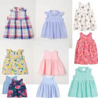 Dress female HM Height 68, reference age 4-6 months, height 74, reference age 6-9 months, height 80, reference age 9-12 months, height 86, reference age 12-18 months, height 92, reference age 1.5-2 years, height 98, reference age 2-3 years, height 104, reference age 3-4 years Cotton 100% summer other