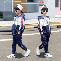 suit Other / other 120cm,130cm,140cm,150cm,160cm,170cm male spring and autumn Korean version Long sleeve + pants 2 pieces routine There are models in the real shooting Zipper shirt nothing Chinese Mainland