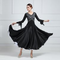 Modern dance suit (including performance clothes) Fanxi dance Waltz, tango, Foxtrot, trot female White, red, rose, yellow S. M, l, XL, larger other LYQ1901