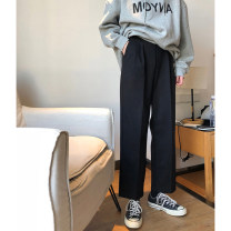 Women's large Summer of 2019, spring of 2019, autumn of 2019 Black, black thickening M (recommendation 80-100), l (recommendation 100-120), XL (recommendation 120-140), 2XL (recommendation 140-160), 3XL (recommendation 160-180), 4XL (recommendation 180-200) trousers singleton  commute moderate