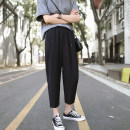 Women's large Summer of 2019, spring of 2019, autumn of 2019 black M (recommendation 80-100), l (recommendation 100-120), XL (recommendation 120-140), 2XL (recommendation 140-160), 3XL (recommendation 160-180), 4XL (recommendation 180-200) trousers singleton  commute easy moderate Solid color