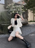 Fashion suit Summer 2021 S, M Black suit, white suit, bright yellow suit 18-25 years old Greater than poetry AT07217 96% and above polyester fiber