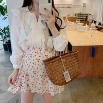 Fashion suit Spring 2020 Average size White shirt, half skirt s, half Skirt M 18-25 years old