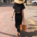 Dress Summer 2021 black Average size longuette singleton  Short sleeve commute Crew neck Loose waist Solid color Socket other routine Others 18-24 years old Korean version 31% (inclusive) - 50% (inclusive) other other