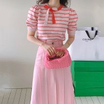 Fashion suit Summer 2021 Average size Pink top , Green top , Yellow coat , Pink skirt s , Pink Skirt M , Green skirt s , Green Skirt M , Blue skirt s , Blue Skirt M 18-25 years old 31% (inclusive) - 50% (inclusive)
