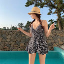 one piece  Swimsuit M,L,XL Picture color Skirt one piece Steel strap breast pad nylon female Sleeveless Casual swimsuit