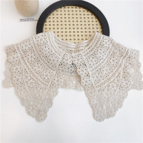 Scarf / silk scarf / Shawl polyester Lace Shawl [a pearl] - milk tea rice, Lace Shawl [a pearl] - milk coffee, Lace Shawl [a pearl] - Black Spring and autumn, summer female Shawl multi-function Korean version other Youth, youth, middle age Solid color Hollowing out More than 96%