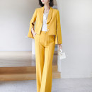 Fashion suit Spring 2021 S M L XL XXL Yellow (in stock) Xinyuquan 30% and below spandex Polyester 93% polyurethane elastic fiber (spandex) 7% Pure e-commerce (online only)