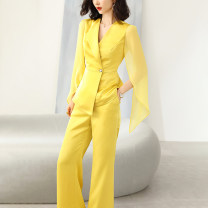 Fashion suit Summer 2021 S M L XL XXL Yellow white red blue 25-35 years old Xinyuquan 920251164- 96% and above polyester fiber Polyester 100% Pure e-commerce (online only)