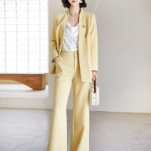 Fashion suit Spring 2021 S M L XL 2XL Yellow (in stock) Xinyuquan 30% and below spandex Polyester fiber 60% polyurethane elastic fiber (spandex) 6% others 34%