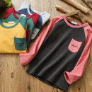 T-shirt Other / other male spring and autumn Long sleeves Crew neck No model nothing cotton 2, 3, 4, 5, 6, 7, 8, 9, 10, 11, 12, 13, 14 years old