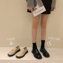 Low top shoes 35,36,37,38,39 Jia Bujia Round head PU Thick heel Low heel (1-3cm) Midmouth PU Winter 2020 Trochanter Korean version Adhesive shoes Youth (18-40 years old) Solid color rubber Single shoes PU office 2020.10.26 Face dressing