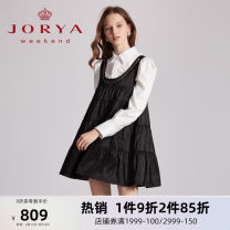Dress Winter 2020 black S M L XL Short skirt Sleeveless Sweet Crew neck middle-waisted Socket other 25-29 years old Type A JORYA weekend EJWBAJ29 More than 95% other Other 100% princess Same model in shopping mall (sold online and offline)