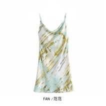 Dress Spring 2021 Blue, green S,M,L Short skirt singleton  street Socket camisole 51% (inclusive) - 70% (inclusive) Europe and America