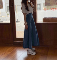 skirt Summer 2021 S, M Graph color Mid length dress commute High waist A-line skirt Solid color Type A 18-24 years old 4#1 71% (inclusive) - 80% (inclusive) other other Korean version