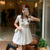 Dress Summer 2021 White, black S,M,L singleton  Short sleeve commute High waist Solid color Socket other Others 18-24 years old Korean version 4#8 71% (inclusive) - 80% (inclusive) other other