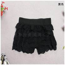 Casual pants black Average size Spring 2021 shorts Straight pants low-waisted 96% and above Daily list cotton