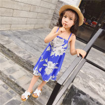 Dress As shown in the figure female Other / other 100 = 7, 110 = 9, 120 = 11, 130 = 13, 135 = 15 Other 100% summer Korean version Skirt / vest Broken flowers cotton Lotus leaf edge Class B 2 years old, 3 years old, 4 years old, 5 years old, 6 years old, 7 years old, 8 years old