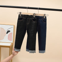 trousers Other / other female 100 = 7, 110 = 9, 120 = 11, 130 = 13, 135 = 15 Black, blue winter trousers Korean version There are models in the real shooting Leggings Leather belt middle-waisted Denim Don't open the crotch Cotton 50% polyester 50% Class B Jeans Three, four, five, six, seven, eight