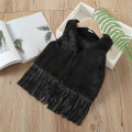 Vest female black 90 = 7, 100 = 9, 110 = 11, 120 = 13, 130 = 15 Other / other winter routine There are models in the real shooting leisure time cotton Solid color Class B Silk floss Three, four, five, six, seven, eight