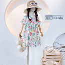Dress As shown in the figure female Other / other 100 = 7, 110 = 9, 120 = 11, 130 = 13, 135 = 15 Other 100% summer leisure time Short sleeve Broken flowers cotton Lotus leaf edge af98310 Class B Three, four, five, six, seven, eight Chinese Mainland