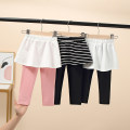 trousers Other / other female 90 = 7, 100 = 9, 110 = 11, 120 = 13, 130 = 15 Black stripe, black and white, pink spring and autumn trousers Korean version There are models in the real shooting Leggings Leather belt middle-waisted cotton Don't open the crotch Class B Culotte Chinese Mainland