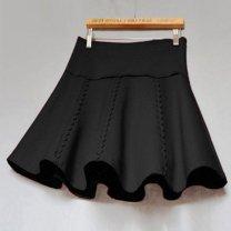 skirt Winter 2016 Black, red Short skirt High waist Fluffy skirt Other / other
