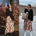 Dress Spring 2020 S,M,L Mid length dress singleton  Long sleeves commute stand collar Decor Pencil skirt routine Type H naturaleye lady Chiffon