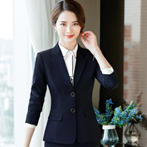 suit Autumn of 2019 S,M,L,XL,2XL,3XL,4XL Long sleeves routine Self cultivation tailored collar Single breasted commute routine Solid color 1502-2 18-24 years old 71% (inclusive) - 80% (inclusive) polyester fiber Other / other Pockets, buttons, stitching, patching, thread decoration