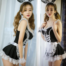 Fun suit Enchanting Spandex polyester Maid suit + hair band maid suit + hair band + ear Sexy lingerie Rope Suit Maid's clothing reunite with Average size