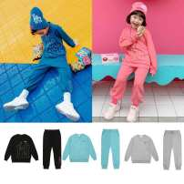suit MLB Black, blue, gray, pink, mint, new black, new gray, new blue, new pink, new green 105cm,110cm,120cm,130cm,145cm,155cm,165cm neutral All seasons leisure time Long sleeve + pants 2 pieces routine There are models in the real shooting Socket nothing letter children Class A