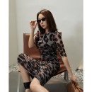 T-shirt 3153 top Monet, 3153 top leopard, 3153 top black, 3166 skirt Monet, 3166 skirt leopard, 3166 skirt black S. M, l, XL, s-5.5, m-5.5, l-5.5, xl-5.5 Summer 2021 Short sleeve Crew neck Self cultivation Medium length routine street polyester fiber 96% and above 30-34 years old ZIA ZHANG