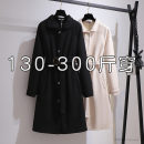 woolen coat Winter 2020 2XL,3XL,4XL,5XL,6XL Black, apricot polyester fiber 95% and above Medium length Long sleeves commute Single breasted Solid color 25-29 years old Pocket, button