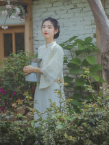 jacket Spring 2021 S,M,L Apricot white, apricot white pre-sale 12 working days Nanfeng Valley 25-35 years old cotton 31% (inclusive) - 50% (inclusive)