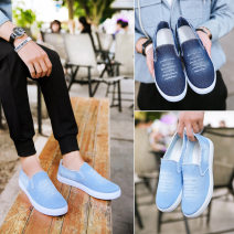 canvas shoe 39,40,41,42,43,44 No lacing Low Gang Other / other Light blue, blue Flat heel spring and autumn Korean version cloth plastic cement ventilation Solid color Sewing A06