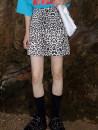 skirt Autumn 2020 S,M,L,XL,2XL Short skirt street High waist skirt Leopard Print Type A 18-24 years old 31% (inclusive) - 50% (inclusive) other Other / other Pocket, zipper Europe and America