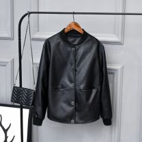 leather clothing Other / other Autumn 2020 S 80-90 Jin, XL 122-135 Jin, l 110-122 Jin, m 90-110 Jin, 2XL 135-150 Jin, 3XL 150-165 Jin Black, black with cotton have cash less than that is registered in the accounts Long sleeves commute Crew neck PU 25-29 years old